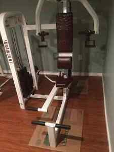 Workout Machines ab/back preacher chest press etc weights