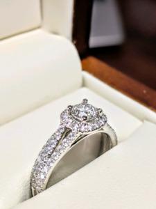 "Round Brilliant cut Diamond ""Ashley"" Wedding Set"