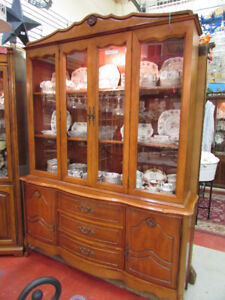SOLID MAPLE, LIGHTED CHINA CABINET