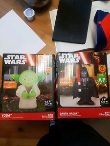 Star Wars Inflatables. Yoda and Darth Vader. Brand new