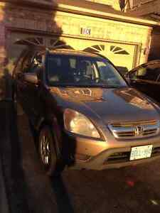 2002 Honda CR-V EXL All Wheel Drive SUV $2650