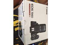Empty Canon Eos 700D and canon 50 1.8 box