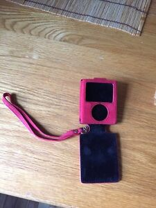Red leather case for iPod nano 3rd generation