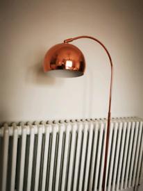 Copper floor lamp