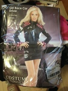 female race car driver costume