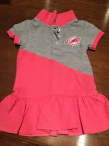 Baby girl 12 month Miami Dolphins dress