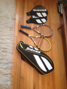2 babolat rackets