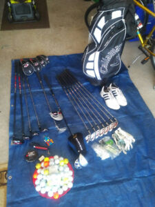 Golf Clubs w/bag and accessories (Leftie)