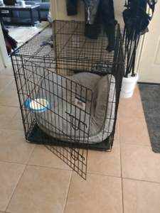 2 door dog crate