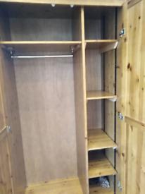 Heavy duty wardrobe with shelves