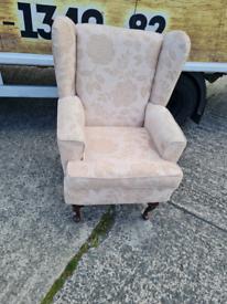 High back Queen Ann wingback chair £75