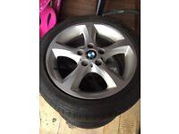 "genuine 17"" BMW alloys"