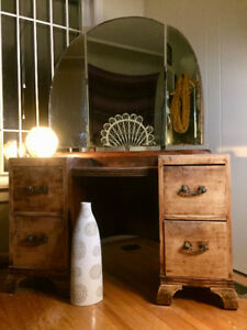 ANTIQUE 100YR OLD VANITY- Passed down through three generations!