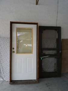 Exterior door with jamb