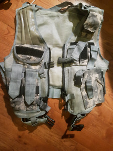Paintball airsoft digital camo military vest