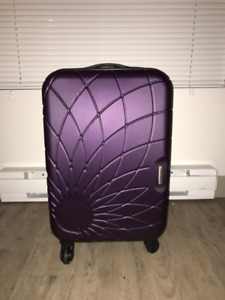 Purple Hard Shell Carry-on Suitcase
