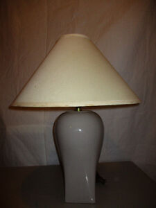 grey ceramic base lamp