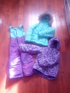 Girls toddler snow suit set