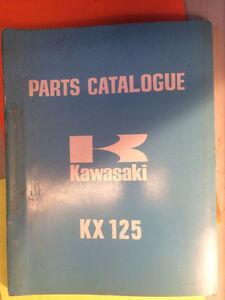 1974 1975 Kawasaki KX125 KX125-A3 Parts Catalogue