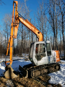 Hitachi 60 extendahoe blade quick attach new tracks