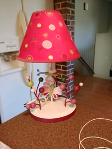 Lambs and Ivy Butterfly Lamp Raspberry Swirl