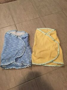 2 baby swaddlers