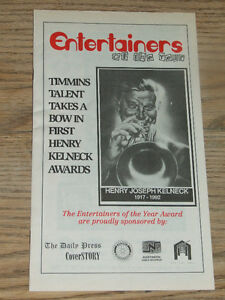 Henry Kelneck Awards to Timmins' top entertainers