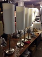 Tall shaded table lamps