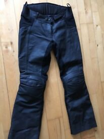 Ladies leather motorbike trousers