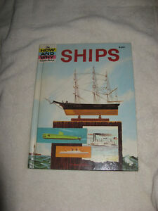 vintage hardcover 1963 HOW AND WHY WONDER BOOK OF SHIPS mint