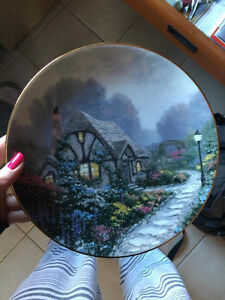 """Chandler's Cottage"" by Thomas Kinkade Collector Plate"