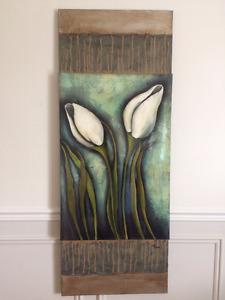Tableau / toile / peinture (dimension 20''x52'')