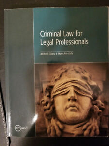 Criminal Law for Legal Professionals - Textbook