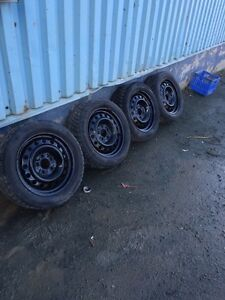 Tires and rims off 2013' civic 205/55r16 St. John's Newfoundland image 1