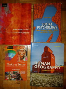 McMaster First Year Social Science Textbooks for Sale.