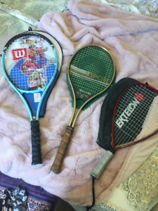 Set of 3 racquets
