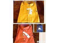 Ralph Lauren men's polo oxford smart shirt small pony long sleeves £15 each cotton