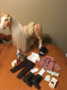 "Our generation 18"" doll horse and riding outfit"