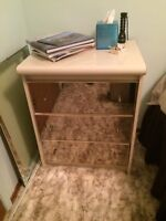 Mirror Faced Dresser with Mirror and two night stands