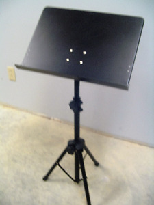 Quality Fully Adjustable Black Music Stand