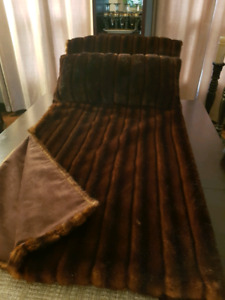 SABLE THROW NEW 72 x 58 in faux fur