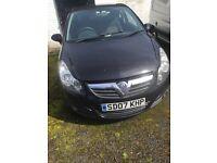 2007 New Shape Vauxhall Corsa 1.0 1 years MOT 3 Door Black polo fiesta golf Punto Astra