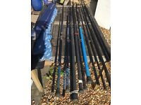 Selection shore and boat sea fishing rods