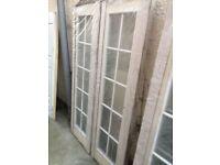Internal pair of Jeld Wen Arlington 10 lite Glazed doors 1220mm wide