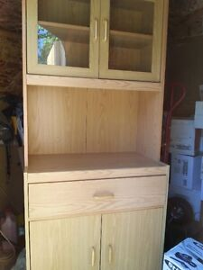 MICROWAVE STAND WITH CUPBOARDS