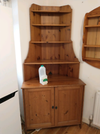Pine kitchen corner unit