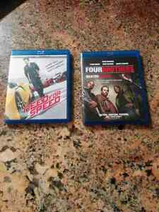 Need for Speed and Four Brothers on blu-ray