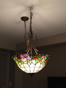 Tiffany style stained glass hanging ceiling shade lamp
