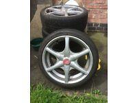 """5 spoke alloy wheels 17"""""""