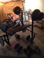 Selling weight + bench